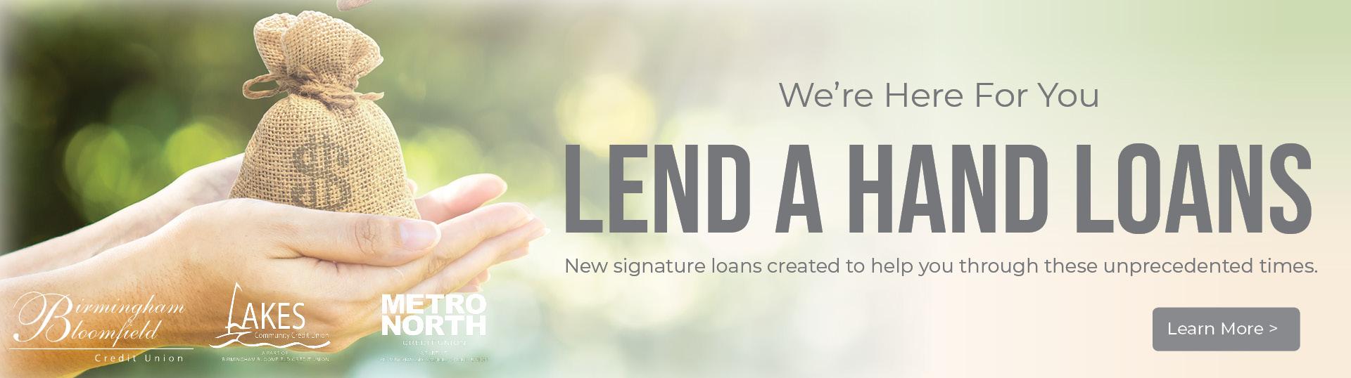 Lend a Hand Loans banner
